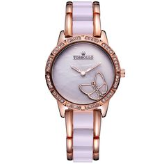13.59$  Buy now - http://ali4x9.shopchina.info/1/go.php?t=32597447780 - Luxury Brand Womens Quartz Watch Alloy Simulated Ceramic Strap Ladies Watch White  #buychinaproducts