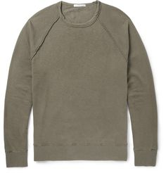 James Perse - Washed Supima Cotton-Jersey Sweatshirt | MR PORTER