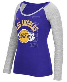 ed51e481a2c adidas Women's Los Angeles Lakers Liquid Dots T-Shirt & Reviews - Sports  Fan Shop By Lids - Men - Macy's