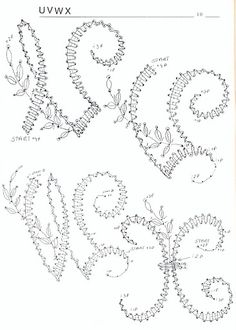 renda de bilros / bobbin lace  letras / letters Bobbin Lace Patterns, Bead Loom Patterns, Hairpin Lace Crochet, Crochet Motif, Crochet Edgings, Crochet Shawl, Lace Earrings, Lace Jewelry, Bobbin Lacemaking