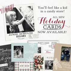 Holiday Card Templates by Jamie Schultz Designs