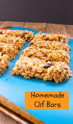 Homemade Clif Bars (can be made gluten free)