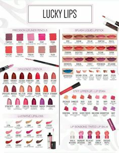 Younique Lip Products!!  We are sure to have a lip product that you will love! Precision LipLiners, Lucrative Lipgloss, Stiff Upper Lip-Lip Stain, Opulence Lipstick, Lip BonBons Tinted Lip Balm & Splash Liquid Lipstick!  #Younique #ClickImageToShop #Questions #EmailMe sarahandbrianyounique@gmail.com or comment below