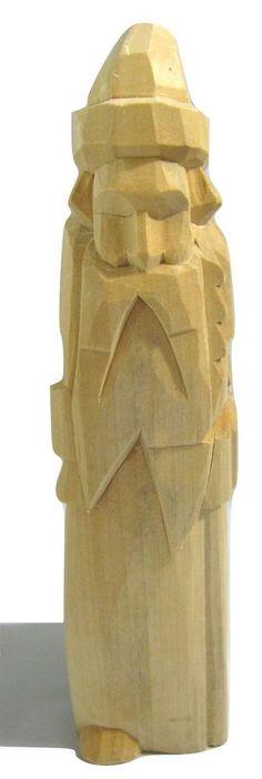 Vtg Folk Art Wooden Carved Santa Claus Figure RUSSIA  Primitive Saint Nick Xmas #babayaga #Russian #handcarvings #santaclaus #primitive
