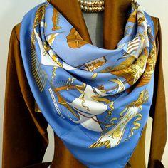 Authentic Vintage Hermes Silk Scarf Armada 1976 Original issue Rare Foulard,  Infini, Écharpe En 1a80552f7b9