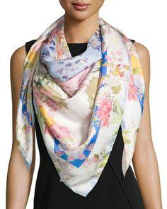 a7fcfb7d166 St. Piece Daphne Floral Silk Scarf