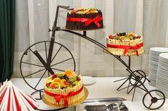 Esküvői torta a kerékpár szerelmeseinek /fotó: Bödő Viktória/