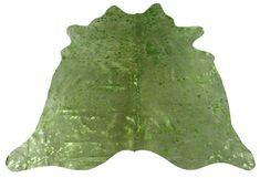 Green Metallic Cowhide Rug Size: 6 X 6 ft Green Metallic Acid Wash Rug M-157 #cowhidesusa #Contemporary