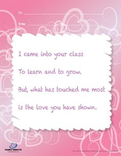 teacher appreciation poems - Google Search