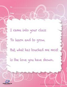 Teacher Appreciation Poem   for the teachers   Pinterest   Teacher ...