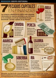 Los 7 Pecados en Finanzas Personales Money Tips, Coaching, Community Manager, Financial Tips, Entrepreneurship, Personal Finance, Personal Development, Leadership, Business Tips