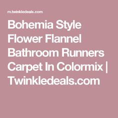 Bohemia Style Flower Flannel Bathroom Runners Carpet In Colormix | Twinkledeals.com