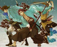 Hakuouki Shinsengumi Kitan, Nagakura Shinpachi (Hakuouki), Harada Sanosuke (Hakuouki), Toudou Heisuke (Hakuouki), Shinsengumi Uniform