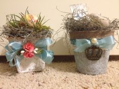 Vintage Easter peat | Decorated peat pots | Easter, Spring & Nests