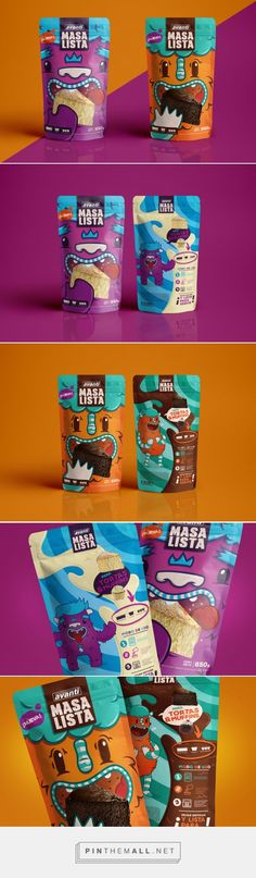 Matías Francolino designed this adorable conceptual packaging for a new ready-made cake batter line, Masa Lista. / Designed by Matías Francolino