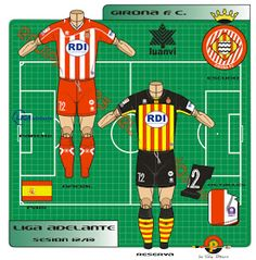 Girona of Spain kits for Football Kits, Great Team, Spain, Colours, Logo, Shirt, Soccer Kits, Soccer Equipment, Logos