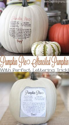 What easy and cute fall decor! Try the easy lettering trick on the pumpkin from @thepinningmama | Fall Decorations
