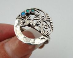 Great Handcrafted 9K Yellow Gold Sterling Silver Ring by jewela