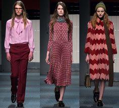 #CachemereRose & #Marsala en el desfile de #Gucci f/w 2015-16  Los 10 colores de moda para el otoño invierno 2015 -16 y cómo combinarlos  http://bcncoolhunter.com/2015/02/10-colores-de-moda-otono-invierno-2015-2016-como-combinarlos/