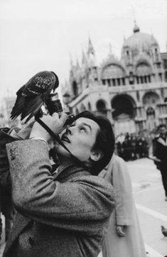 Alain Delon at Piazza San Marco, Venice Photo: Robert Doisneau Old Pictures, Old Photos, Film Noir Fotografie, Foto Poster, Alain Delon, Black And White Man, Jolie Photo, Black And White Photography, Street Photography