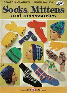 Coats and Clark's Socks Mittens