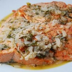 Broiled Salmon in Wine Dijon Sauce
