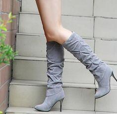Winter high heeled boots
