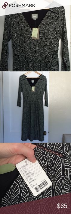 Anthropologie Maeve Dress Super soft midi with three quarter length sleeves and tapered under bust. Fully lined. Cute detail on shoulder. Rayon/Spandex blend. Make an offer! Anthropologie Dresses Midi
