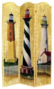 Light House Room Divider Screen         cute for the beach