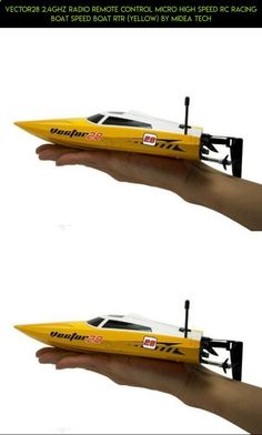Vector28 2.4Ghz Radio Remote Control Micro High Speed RC Racing Boat Speed Boat RTR (Yellow) by Midea Tech #shopping #drone #parts #products #tech #kit #technology #volantex #rc #racing #boat #plans #fpv #camera #gadgets