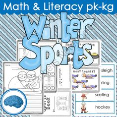 10 Winners - Winter Sports (Pre-K and/or KG) - Ten winners will get this great winter sports pack. Download the preview to get a feel for what you will get. .  A GIVEAWAY promotion for Winter Sports Thematic Study for Pre-k to KG (word wall, write the room, etc) from Selma Dawani on TeachersNotebook.com (ends on 1-11-2014)