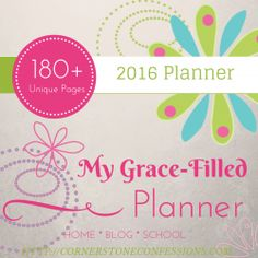 2016+Grace-Filled+Planner+Includes+180++Unique+Planning+Pages+in+a+simple+but+beautiful+colorful+design.