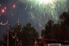 Feuerwerk beim Montfortfest 2014 in Tettnang