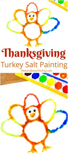 How to Make Thanksgiving Turkey Salt Painting