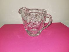 Vintage Star of David Creamer,8 Ounce,Clear Cut Glass,Vintage Anchor Hocking,EARLY American, Star of David,Anchor Hocking Pitcher,Clear Cut http://etsy.me/2CYUNks   #housewares #serving #clear #glass #starofdavid #eapg #pressedglass #gotvintage #clearcutglass
