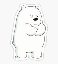 Wallpaper Funniest: We Bare Bears Fan Art Stickers Kawaii, Preppy Stickers, Cute Laptop Stickers, Bubble Stickers, Cartoon Stickers, Cool Stickers, Printable Stickers, Cute Panda Wallpaper, Bear Wallpaper