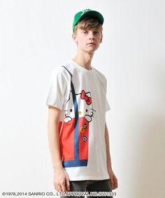 graniph T-shirts(グラニフティシャツ)のコラボレーションTシャツ/Sanrio (Fake Tote Hello Kitty)(Tシャツ/カットソー)|詳細画像