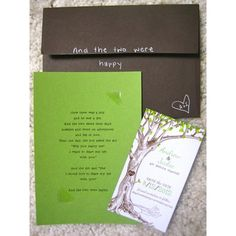 The Giving Tree wedding invitations might make you cry found on Polyvore