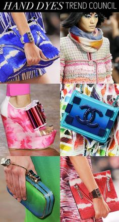 SS 2015, women's accessories trends, pattern hand dyes