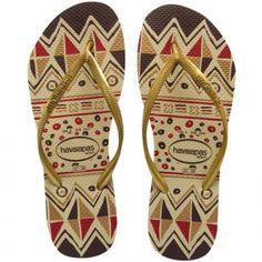 8847c0412 Havaianas Slim Tribal - Golden
