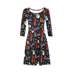 Hare dress fit and flare skater size xs s m l xl 2xl 3xl moon