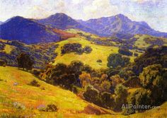 When All The World Is Young by William Wendt Handmade oil painting reproduction on canvas for sale,We can offer Framed art,Wall Art,Gallery Wrap and Stretched Canvas,Choose from multiple sizes and frames at discount price. Oil Painting On Canvas, Canvas Art Prints, Painting Tips, Local Art Galleries, Mountain Paintings, Oil Painting Reproductions, Landscape Paintings, Landscapes, Oil Paintings