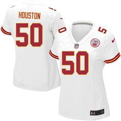 $24.99 Nike Limited Justin Houston White Women's Jersey - Kansas City Chiefs #50 NFL Road