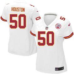Nike Limited Justin Houston White Women's Jersey - Kansas City Chiefs #50 NFL Road