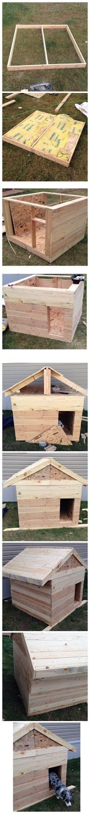Dog House Made From Pallets  ---  #pallets