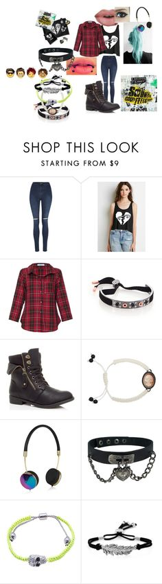 """5 seconds of summer"" by infinityfreak13 ❤ liked on Polyvore featuring moda, George, Vitamin, Marc by Marc Jacobs, Amedeo, Frends, Pink Mascara, Jessica Simpson, women's clothing e women's fashion"