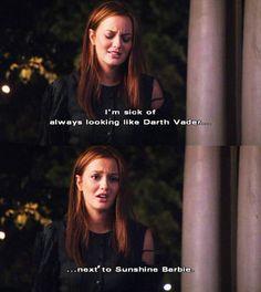 Next to sunshine Barbie! Oh Blair and Serena fights<3 gotta' love them!