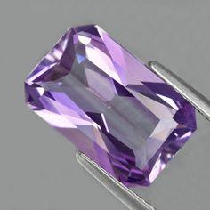 Very nice untreated. 13 x mm Radiant Cut Brazil Amethyst Radiant Cut, Amethyst Gemstone, Natural Gemstones, Brazil, Texture, Crystals, Nice, Crafts, Gemstones