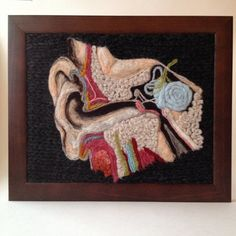 Anatomical Study of the Inner Ear in Wool by aKNITomy on Etsy