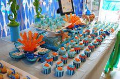 Cumpleaños infantiles de tema Bajo el mar Ve más ideas originales en IDEAS de EVENTOS